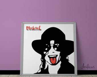 Michael Jackson Digital Art Print - Inspirational Wall Art, Printable Art, Funny Poster Art, Canvas Art, Instant Digital Download