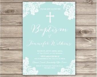 Baptism Invitations Cross Lace Pretty Baptism Invitation Pretty Baptism NV8653