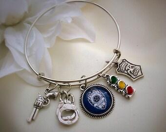 Police Officer Bangle Bracelet