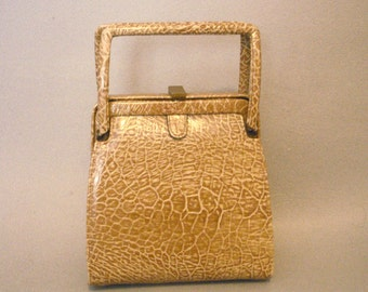 Vintage Meyers USA Handbag Purse Faux Croc