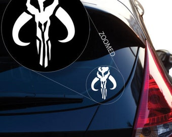 Jaing Head Boba Fett Bounty Hunter inspired Star Wars Vinyl Decal Sticker # 489