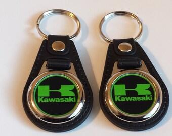 Kawasaki Keychain 2 pack green