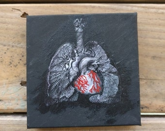This Little Heart Mixed Media Piece