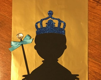 12 Royal blue prince party bag