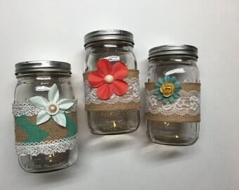 Mason jar decor vases