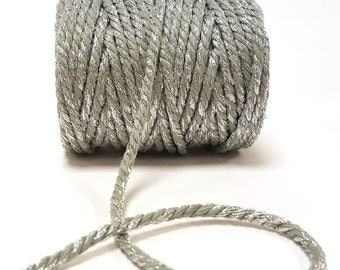 Silver Sparkle 5mm Chunky Bakers Twine *Sold Per Metre*