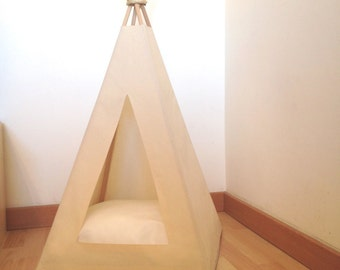 Cat Teepee Bed (Unbleached Cotton)