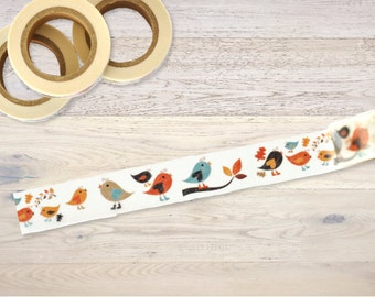 Masking Tape with little birds on twigs Washi Tape