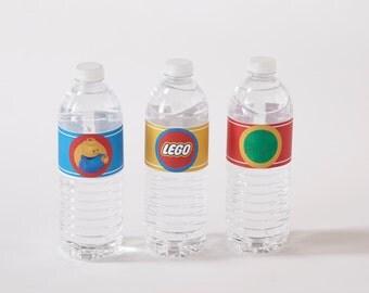 Lego water bottle label, Lego, Legos, water bottle label, Lego decorations, Lego printable, Lego birthday party, Lego birthday, Lego party