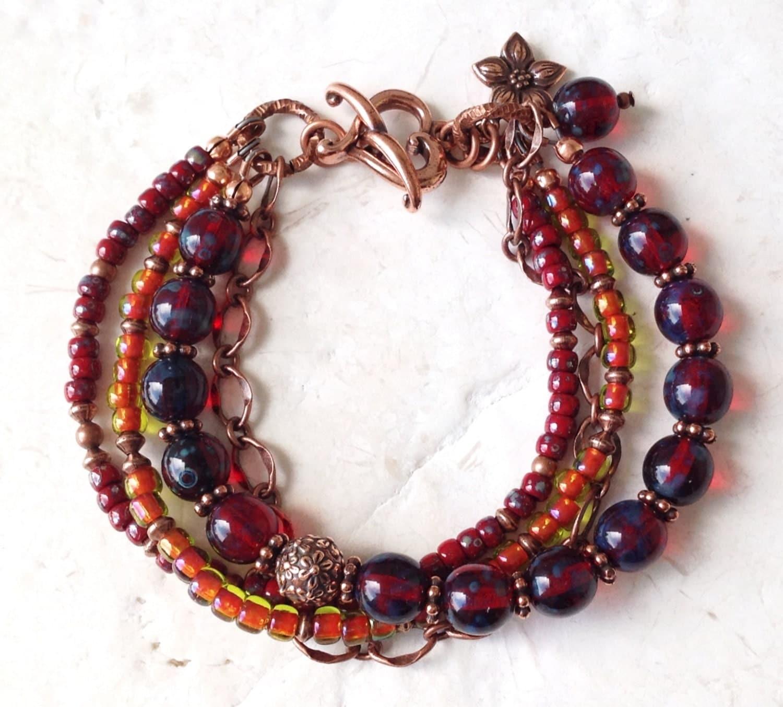 boho bracelet multi strand bracelets handmade by
