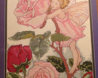 """1997 """"The Rose Fairy"""" Cicely Mary Barkers  Flower Fairies Designs for the Needle"""