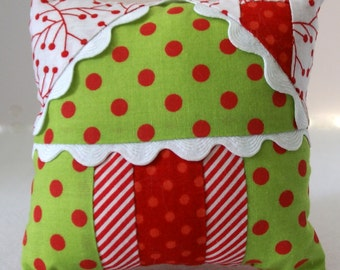 PDF Pattern - Gingerbread House Pincushion, Ornament and Gift Holder