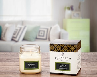 Raleigh: Pine Cones ~ (Soy Candle) ~ Southern City Collections ~  Mason Jar Candles ~ Made in North Carolina