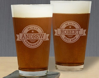 Engraved Pint Glass, Engraved Beer Glass