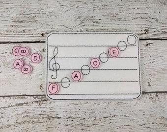 Treble Music Note Learning Board