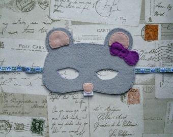 Millie the Woodland Mouse handmade children's felt mask