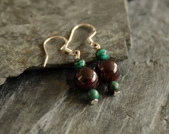 Jewelry for Bema Turquoise and Bead Earrings