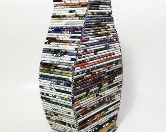 Recycled Newspaper Vase
