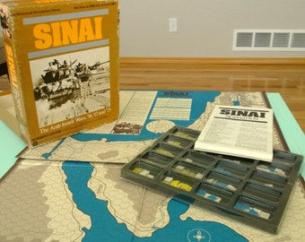 Vintage Sinai Historical Simulation Game Designer's Edition SPI Free Shipping