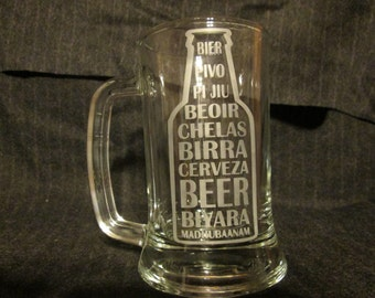 International Languages Beer Mug