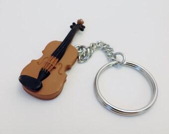 "Musical Instruments 2.5"" VIOLIN Custom Keychain Keyring Key Holder Safari Ltd. Toobs"