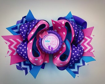 Hair bow, new baby hair bow, boutique hair bow