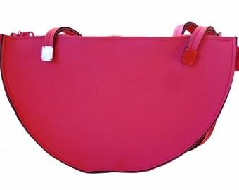 Fuchsia and pink neoprene bag