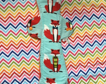 Post Partum reusable sanitary pad, 13 inch, fleece back, cotton  top