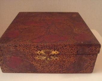 Vintage wooden hand carved box