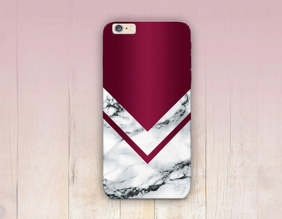 Burgundy Marble Print Phone Case Iphone 6 Case By Crcases