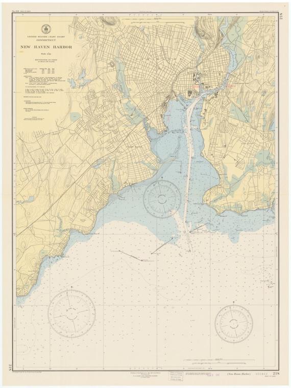 new haven harbor map 1947. Black Bedroom Furniture Sets. Home Design Ideas