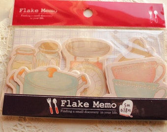 Japanese cute memo flakes - kitchen - 90 pieces