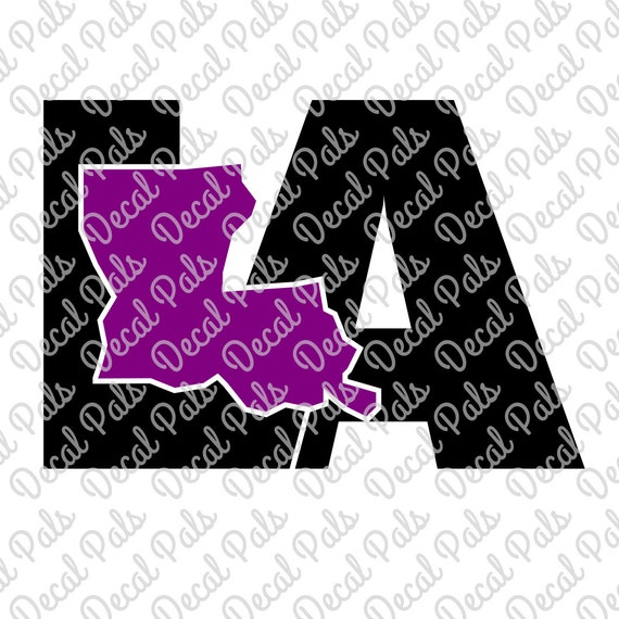Louisiana State Shape And 2-letter Abbreviations FCM SVG