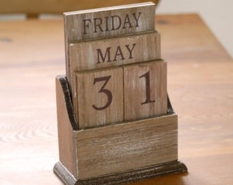 Personalised Perpetual  Wooden Calendar
