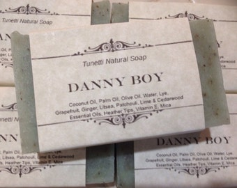 Danny Boy Homemade Soap, Handmade soap, Natural Soap, Cold Process Lye Soap