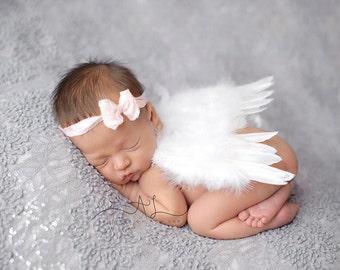Newborn white Angel Wings