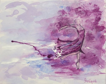 Ballet dancer ballerina purple haze art print artwork wall art home decor decoration mauve violet mist