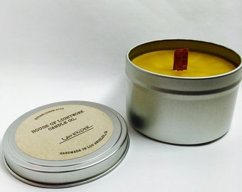 8 oz. Organic Beeswax Tin Candle