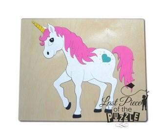 Unicorns are Real Wooden Puzzle, Wood Puzzles, Preschool Puzzle, Unicorn Puzzle