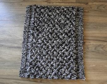 Basket Weave Rug Knit Pattern