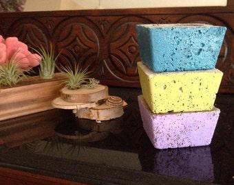 Modern concrete planters/ Industrial planters/ Minimalist decor/ Modern decor/ Set of 3/ choose color