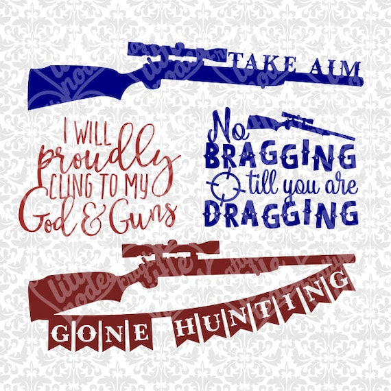 Gone Hunting Shotgun Southern Hunter Gun God Christian SVG dXF sTUDIO  EPS Vector Instant Download Commercial Cutting File Cricut Silhouette