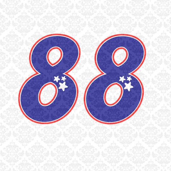 Fourth Of July Outlined Star Patriotic Numbers Shirt designs independence day SVG STUDIO Ai EPS  Instant Download Commercial Cutting file