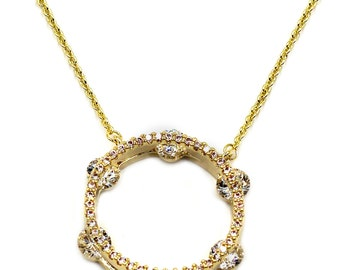 Elegant tambourine crystal necklace