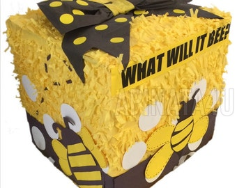 What will it bee? Gender Reveal Block Pinata