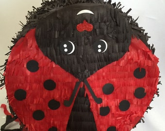 Personalized Ladybug Pull Strings Pinata or Traditional