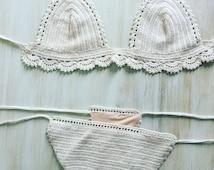Lace bikini set pdf, crochet pattern, bralette pattern, crochet bikini set, bralette set, lingerie set pdf, summer crochet set, pattern set