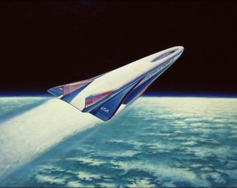 24x36 Poster . Artists Concept Of X-30 Aerospace Plane 1990