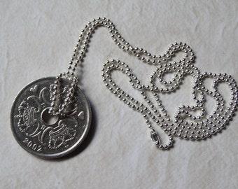 Danish 5 Kroner Coin Necklace