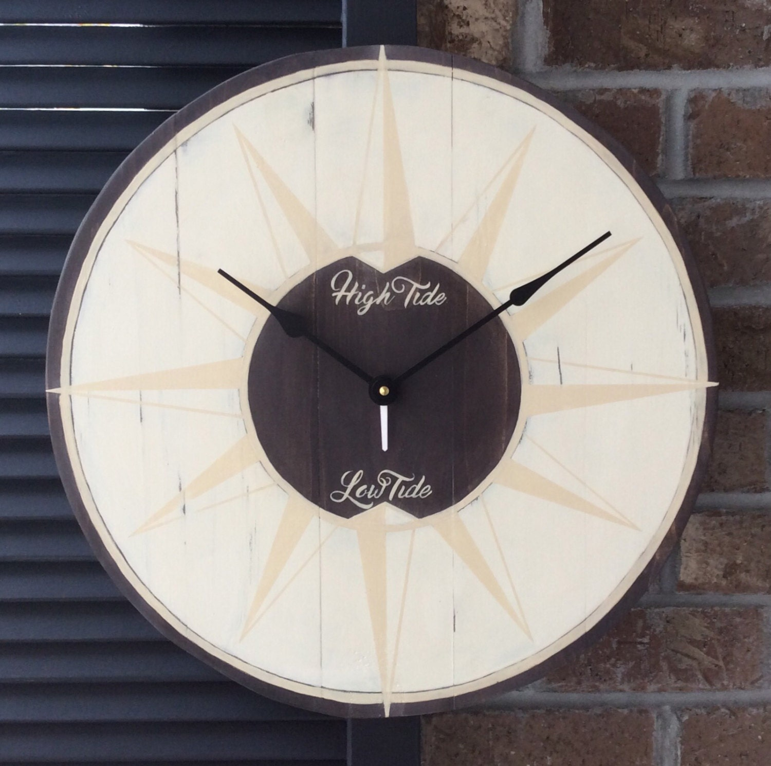 Decorative Wall Clock Instructions : Tide clock beach wall large by